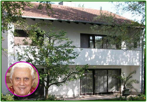 Pope Benedict XVI installed 580 square feet of donated solar panels on his home in Regensburg, Germany, a home he designed.  No Church funds were used.
