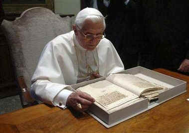 Pope Benedict XVI at the Vatican Library and Archives