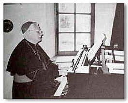 Cardinal Ratzinger at the piano