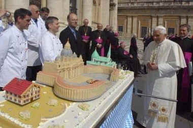 Catholic News - Pope Benedict XVI 80th Birthday Cake